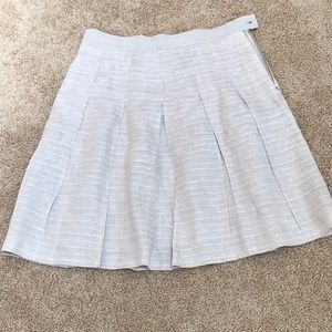 Brooks Brothers size 10 tan pleated linen skirt